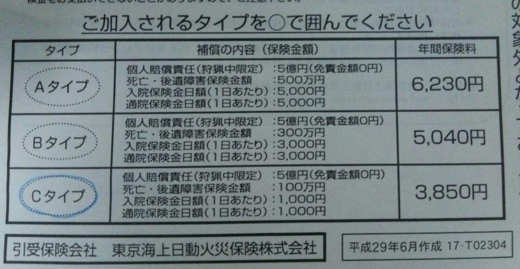 保険加入依頼書抜粋