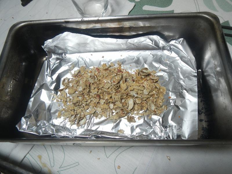 落花生の殻をスモークチップに