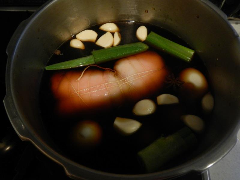 圧力鍋で煮る