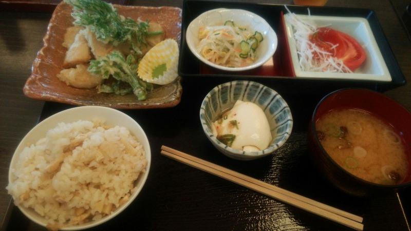 たけのこ天ぷら定食
