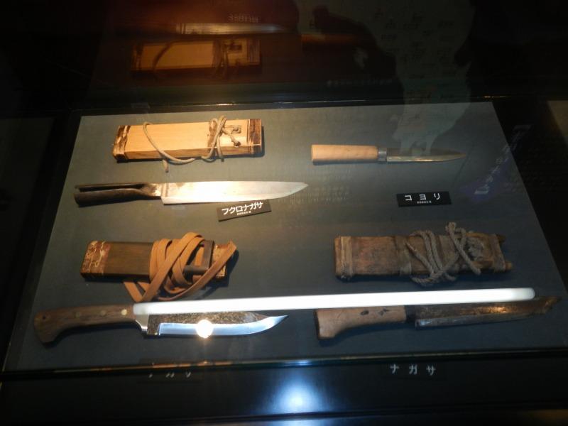 展示されているナイフたち