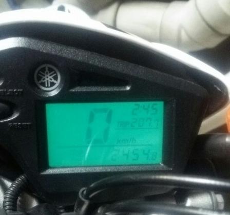 総走行距離2454Km
