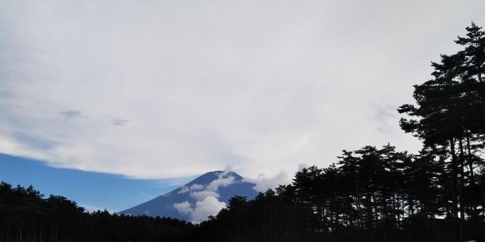 登山前日の富士北麓駐車場からの富士山