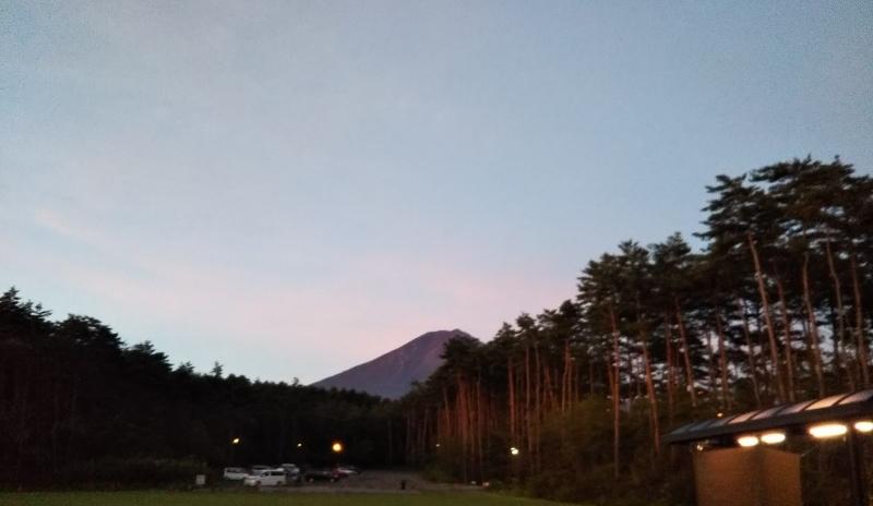登山当日の富士山 がんばんべ~!