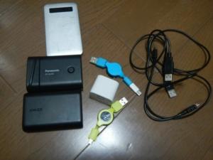 モバイルバッテリーと接続機器