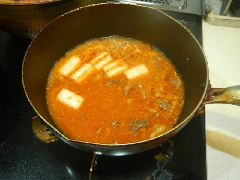 ハシビロガモの韓国風煮