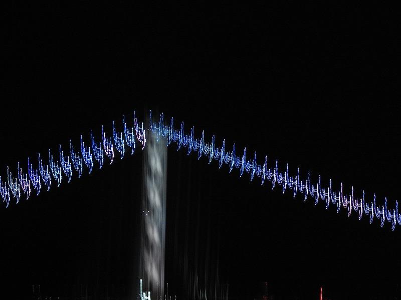 さんふらわから明石大橋を撮るとこんなことになりました。