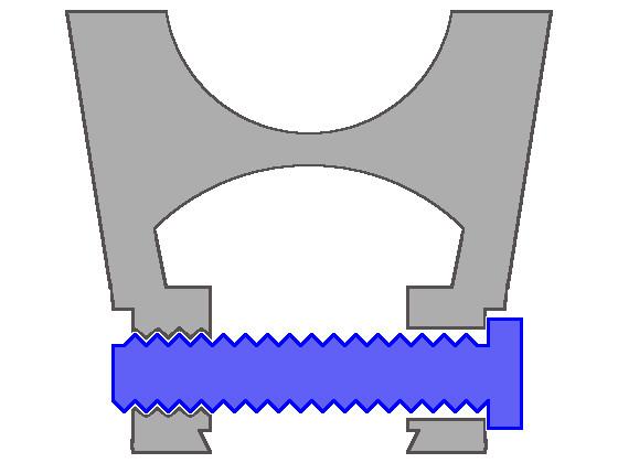従来から付けていたスコープマウントの構造