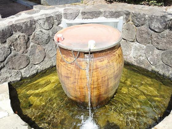 箱根清水の湧き水