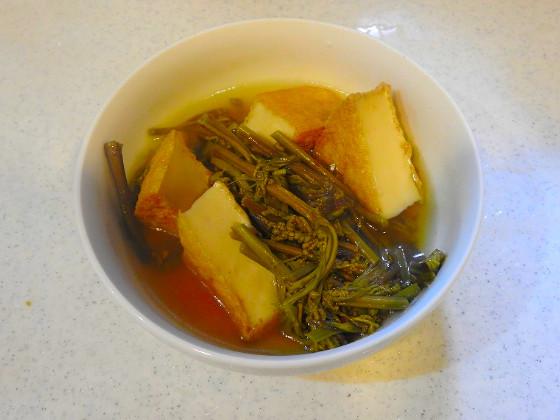 ワラビと厚揚げの煮物
