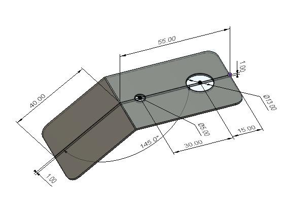 鉄板の加工図面