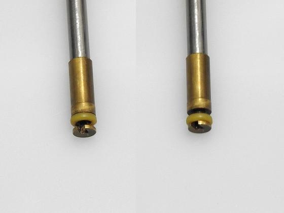 ハンドポンプの棒の先のO可動するリング