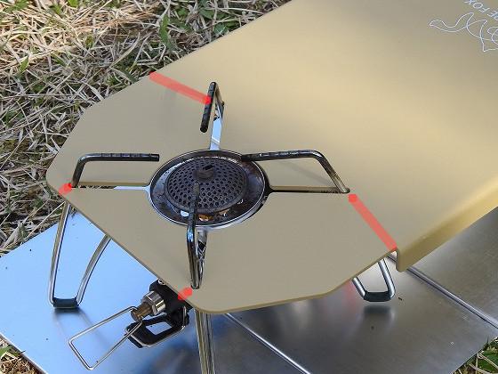 FUTURE FOX SOTO ST-310 専用 ステンレス遮熱テーブルの弱そうなところ